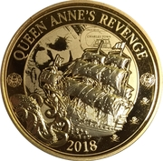 25 Cents (Pirates of Barbados - Blackbeard's Ship the Queen Anne's Revenge) – reverse