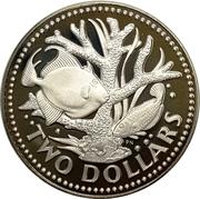 2 Dollars - Elizabeth II (Set Issue) -  reverse