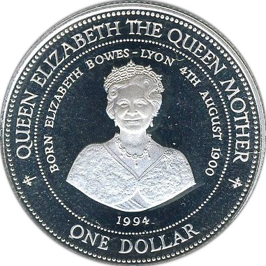 1 Dollar Elizabeth Ii Queen Elizabeth The Queen Mother
