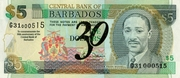 5 Dollars (30th Anniversary of the Central Bank) – obverse