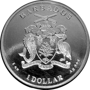 1 Dollar (Seahorse) – obverse