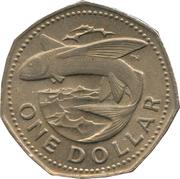 1 Dollar - (large type) – reverse