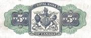 5 Dollars (Royal Bank of Canada) – reverse