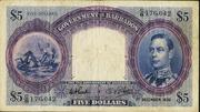 5 Dollars - George VI – obverse