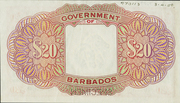 20 Dollars - George VI – reverse