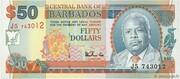 50 Dollars (Large doted numeral) – obverse