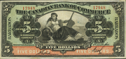 5 Dollars (Canadian Bank of Commerce) – obverse