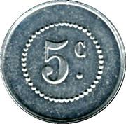 5 Centimes - Union des Commercants de Barbaira – obverse