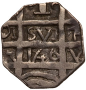 """1 Real """"Chipi-Chipi"""" (Caujaral - Necessity coinage) – obverse"""