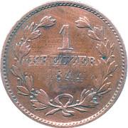 1 Kreuzer (Counterstamped) – reverse