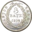 3 Batzen – reverse