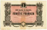 50 Francs (Bank in Basel) – obverse