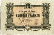 100 Francs (Bank in Basel) -  obverse