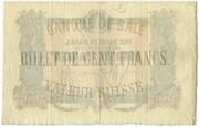 100 Francs (Bank in Basel) -  reverse
