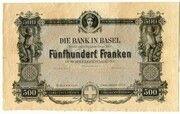 500 Francs (Bank in Basel) – obverse
