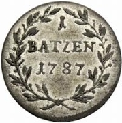 1 Batzen -Joseph Sigismund – reverse