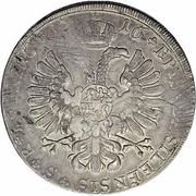 1 Thaler - Johann Konrad II von Reinach-Hirzbach – reverse