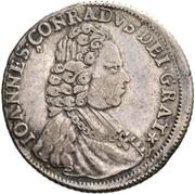 ¼ Thaler - Johann Konrad II von Reinach-Hirzbach – obverse