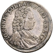¼ Thaler - Johann Conrad II – obverse