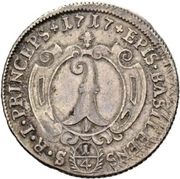 ¼ Thaler - Johann Konrad II von Reinach-Hirzbach – reverse