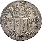1 Thaler - Wilhelm Rink von Baldenstein – obverse