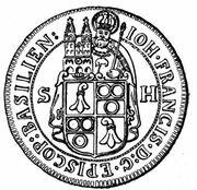 1 Thaler - Johann Franz von Schönau-Zell – obverse