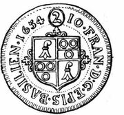 2 Batzen - Johann Franz von Schönau-Zell – obverse