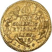1 Ducat - Johann Konrad I von Roggenbach – obverse