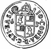 1 Batzen - Johann Konrad I von Roggenbach – obverse