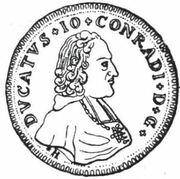 2 Ducat - Johann Konrad II von Reinach-Hirzbach – obverse