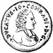 1 Ducat - Johann Konrad II von Reinach-Hirzbach – obverse