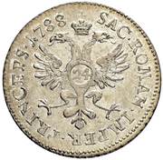 24 Kreuzer - Franz Joseph Sigismund von Roggenbach – reverse