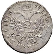 20 Kreuzer - Johann Konrad II von Reinach-Hirzbach – reverse