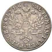 12 Kreuzer - Franz Joseph Sigismund von Roggenbach – reverse