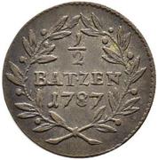 ½ Batzen - Franz Joseph Sigismund von Roggenbach – reverse