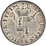 1 Batzen - Franz Joseph Sigismund von Roggenbach – obverse