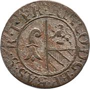 1 Rappen - Johann Konrad II von Reinach-Hirzbach – obverse