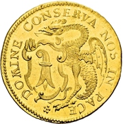 4 Ducat (Gold pattern strike) – obverse