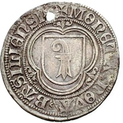 1 Plappart (Gothic lettering; without rays) – obverse