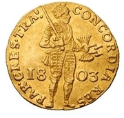 1 Dukaat (French Protectorate; Trade Coinage) – obverse