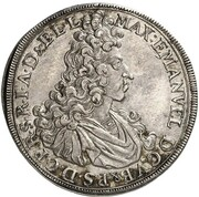 ½ Thaler - Maximilian II Emanuel – obverse