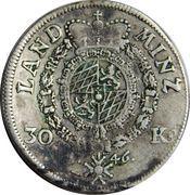 30 Kreuzer - Maximilian III Joseph – reverse