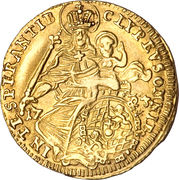 ½ Maximilian d'Or - Emanuel Maximilian II – reverse