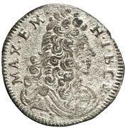 1 Kreuzer - Maximilian II. Emanuel – obverse