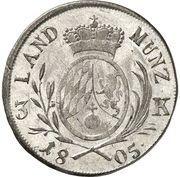 3 Kreuzer - Maximilian IV, Josef (Kreuzer Landmünze) – reverse