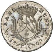 6 Kreuzer - Maximilian Josef IV (Kreuzer Landmünze) – reverse