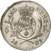 6 Kreuzer - Maximilian IV (Kreuzer Landmünze) – reverse