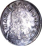 3 Kreuzer - Maximilian II. Emanuel – obverse