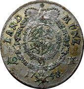 12 Kreuzer - Maximilian III Joseph – reverse
