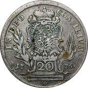 20 Kreuzer - Maximilian III Joseph (Konventionskreuzer) – reverse